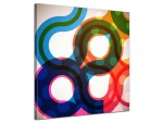 Leinwandbild Abstrakt Ringe Transparent Retro Design Art Bunt 1-teilig 121356