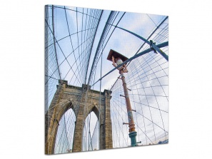 Leinwandbild Stadt Brooklyn Bridge Architektur Detail New York 1-teilig 121249