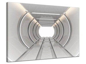 Leinwandbild 3D Architektur Tunnel Raum Linear Future Art Design 1-teilig 121009