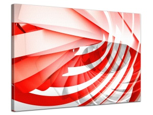 Leinwandbild Abstrakt Collage Spirale 3D Design Transparent Rot 1-teilig 121373