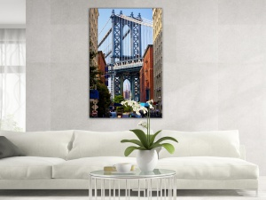 Leinwandbild Stadt Brooklyn Blick Manhattan Bridge Empire State 1-teilig 121240