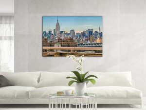 Leinwandbild Stadt New York Aussicht Lower Manhattan Skyline 1-teilig 121244