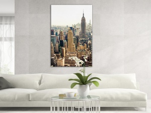Leinwandbild Stadt New York Skyline Dunst Empire State Building 1-teilig 121255