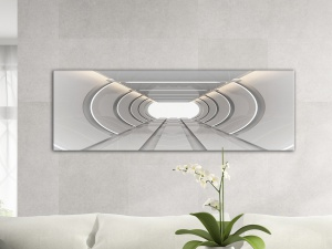 Leinwandbild 3D Architektur Tunnel Raum Linear Future Art Design Panorama 121426